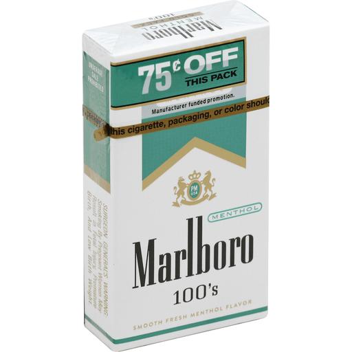 Marlboro Cigarettes Menthol Gold Pack 100 S Tobacco Leyo S Supermarket