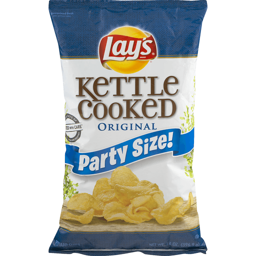 Lay's Kettle Cooked Potato Chips Original Party Size