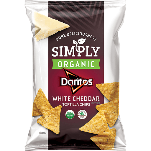 Doritos® Simply Organic White Cheddar Tortilla Chips 7.5 oz Bag