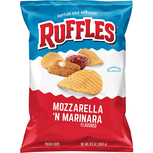 Ruffles Potato Chips, Mozzarella 'n Marinara Flavored