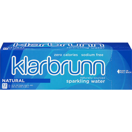 Klarbrunn® Natural Naturally Sourced Sparkling Water 12-12 fl. oz. Box