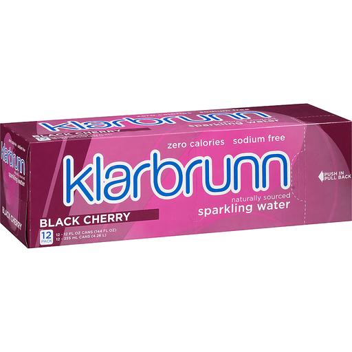 Klarbrunn® Black Cherry Naturally Sourced Sparkling Water 12-12 fl. oz. Box