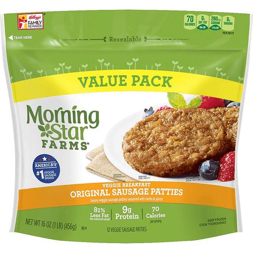 Morning Star Farms Breakfast Sausage Patties Original Chicken Reasor S