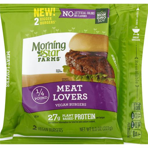 MorningStar Farms Burgers, Vegan, Meat