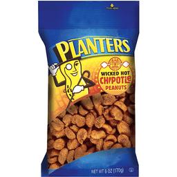 Planters Wicked Hot Chipotle Peanuts 6 oz Bag   Market Basket