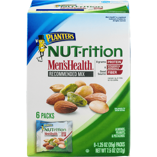Planters Nut-rition Men's Health Recommended Mix - 6 PK