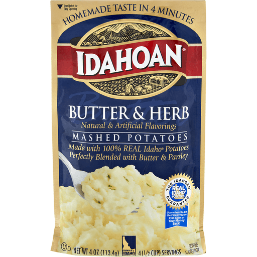 Idahoan Mashed Potatoes Butter & Herb
