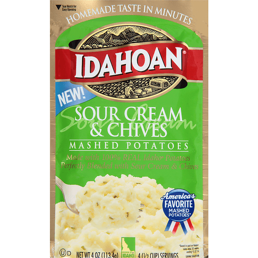 Idahoan® Sour Cream & Chives Mashed Potatoes 4 oz. Pouch