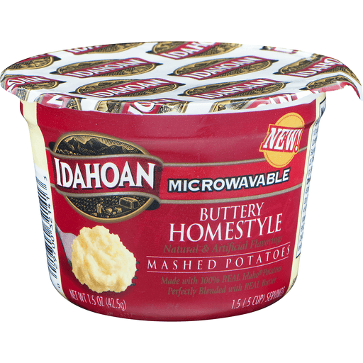 Idahoan Mashed Potatoes Microwavable Buttery Homestyle