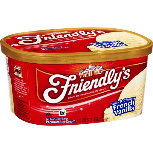 Friendly's Premium Ice Cream Rich & Creamy French Vanilla