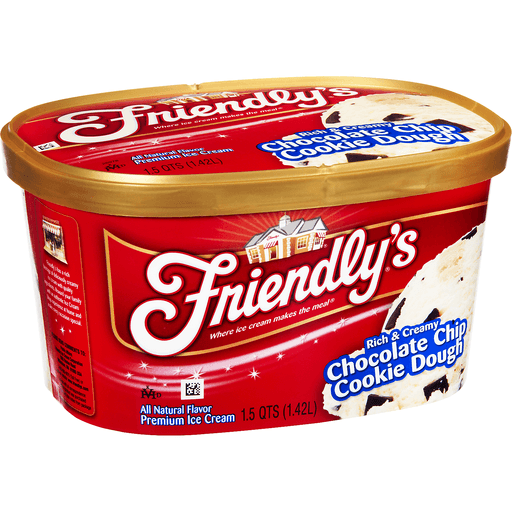 Friendly's Premium Ice Cream Chocolate Chip Cookie Dough