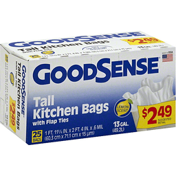c801e95e1 Good Sense Tall Kitchen Bags Fresh Lemon Scent