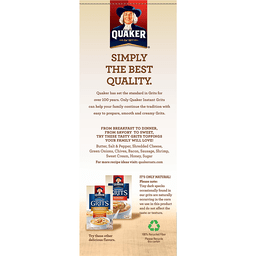 Quaker Instant Grits Flavor Variety Pack - 12 CT
