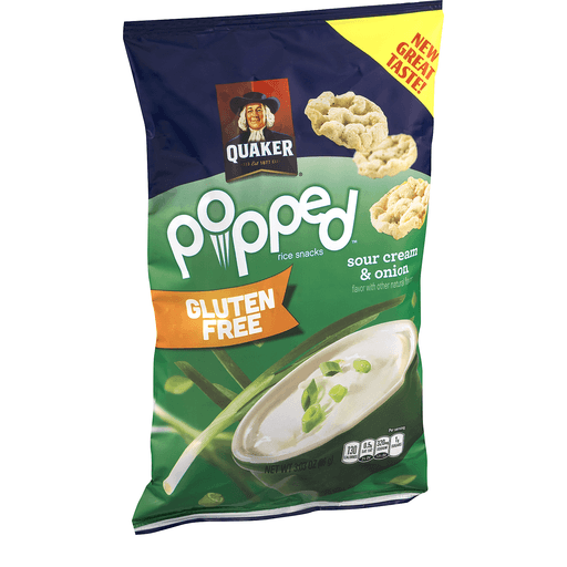 Quaker Gluten Free Popped Rice Crisps Sour Cream & Onion