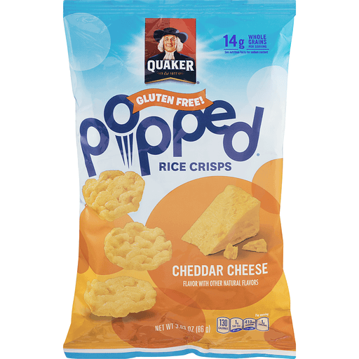 Popped Rice Crisps, Cheddar Cheese