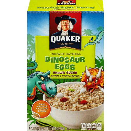 Quaker Oatmeal, Instant, Dinosaur Eggs, Brown Sugar