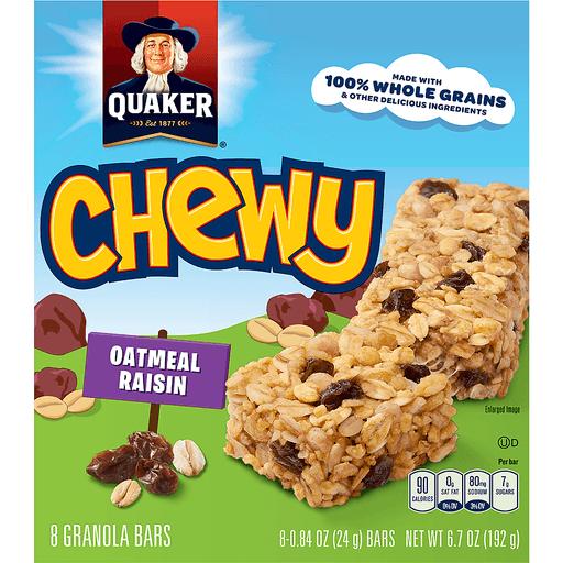 Quaker Chewy Granola Bars Oatmeal Raisin - 8 CT