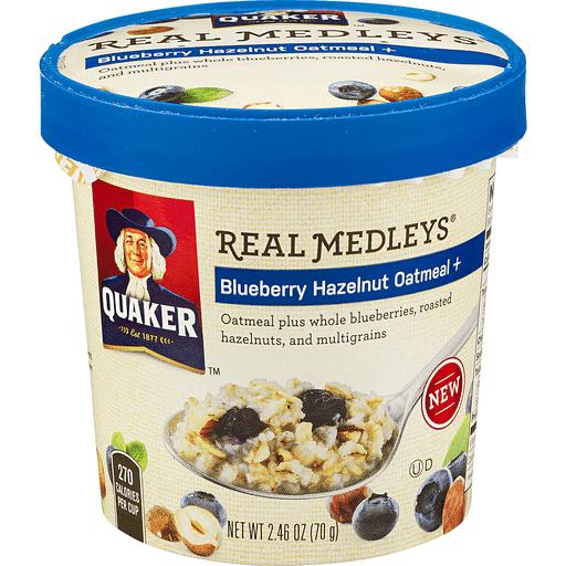 Real Medleys Oatmeal, Blueberry Hazelnut