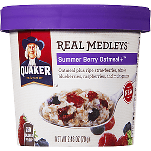 Quaker Real Medleys Summer Berry Flavor Oatmeal
