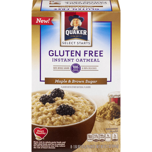 Quaker Select Starts Oatmeal, Instant, Gluten Free, Maple & Brown Sugar