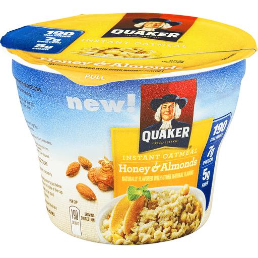 Quaker Oatmeal, Instant, Honey & Almonds