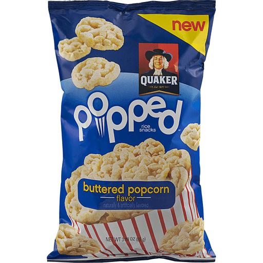Quaker Popped Rice Snacks Buttered Popcorn