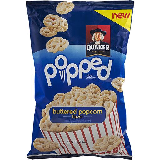 Popped Popped Rice Crisps, Butter Popcorn