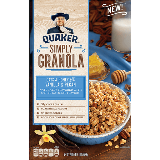 Quaker Granola, Simply, Oats & Honey with Vanilla & Pecan