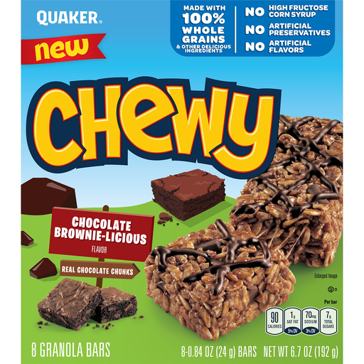 quaker chewy granola bars chocolate brownie licious flavor cereal breakfast bars houchen s my iga myiga com