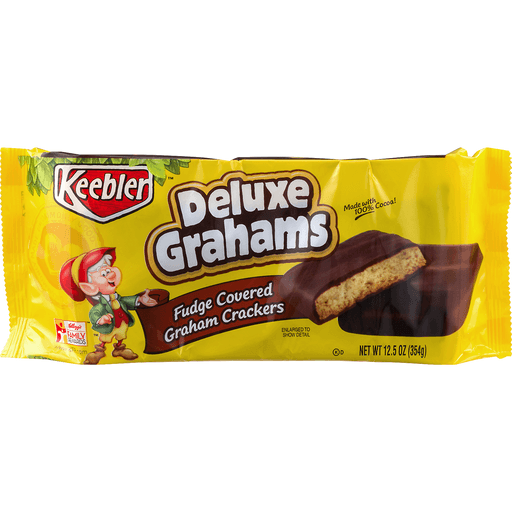 Keebler Deluxe Grahams Graham Crackers, Fudge Covered