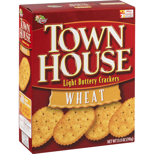 Town House Crackers, Light Buttery, Wheat