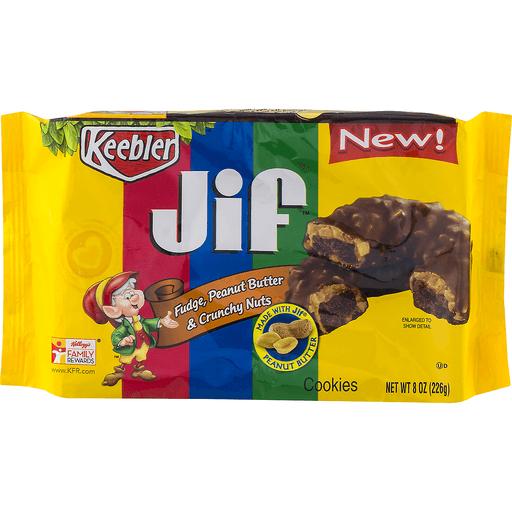Keebler Jif Cookies Fudge, Peanut Butter & Crunchy Nuts