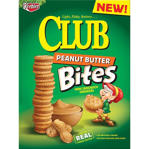 Club Sandwich Crackers, Mini, Bites, Peanut Butter