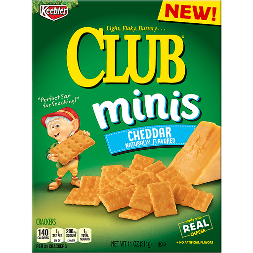 Keebler™ Club® Minis Cheddar Crackers 11 oz. Box