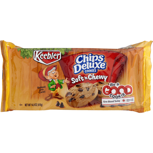 Keebler Chips Deluxe Cookies, Soft 'n Chewy