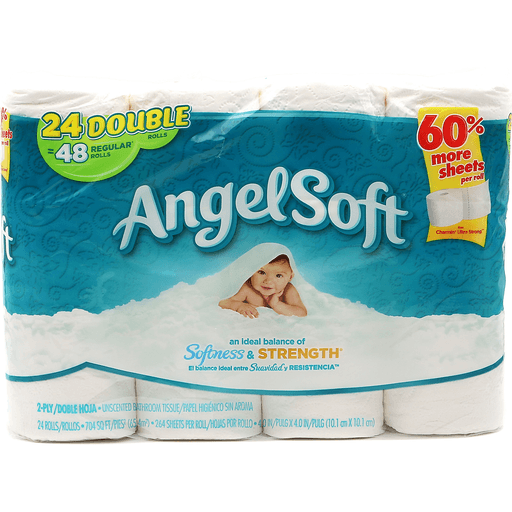 Angel Soft Double Roll White 24pk
