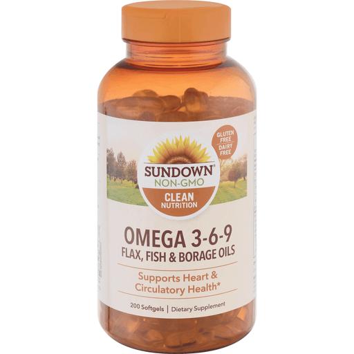 Sundown Naturals Omega 3 6 9 Softgels 200 Ct Shop Lucky S Market