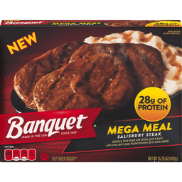 Banquet Salisbury Steak Mega Meal Tahlequah