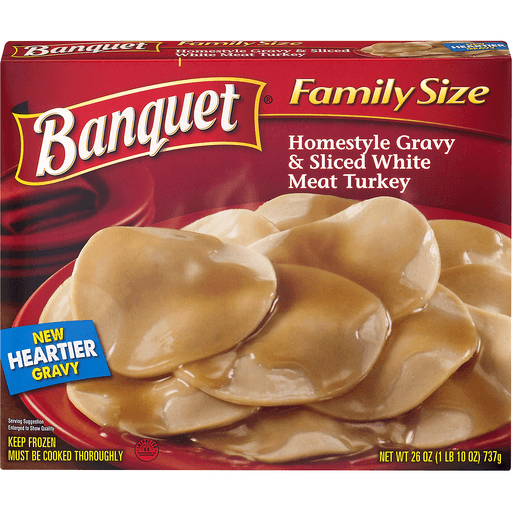 Banquet Family Size Homestyle Gravy & Sliced White Meat Turkey