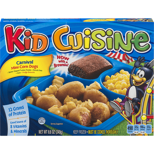 Kid Cuisine Corn Dogs, Mini, Carnival