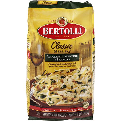 Bertolli Classic Meal for 2 Chicken Florentine & Farfalle