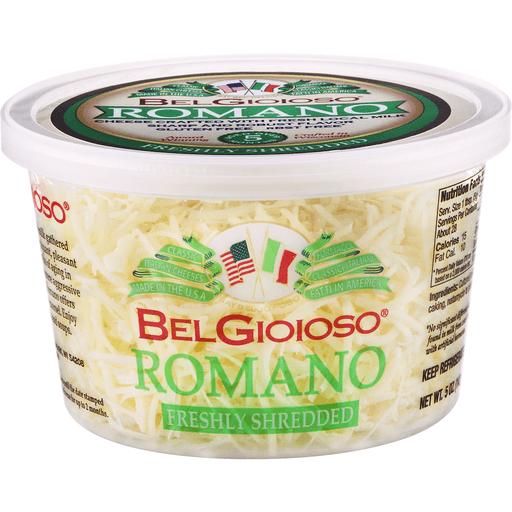 Belgioioso Freshly Shredded Cheese, Romano