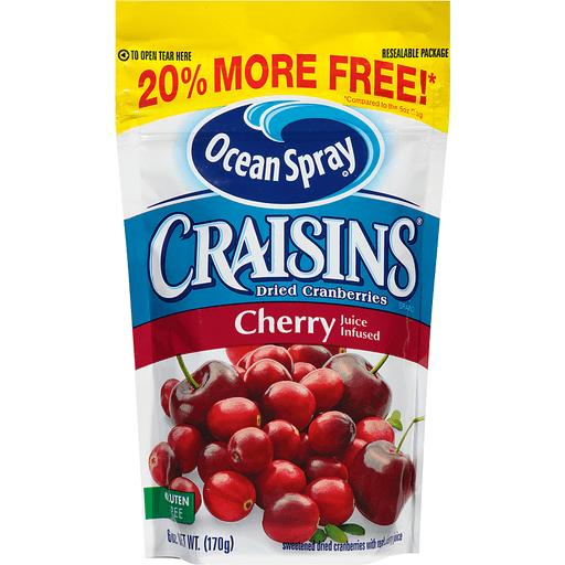 Ocean Spray Craisins Dried Cranberries, Cherry Juice Infused