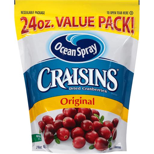 Ocean Spray Craisins Dried Cranberries, Original, Value Pack!