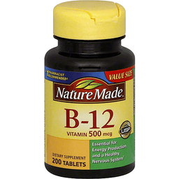 44a5bde58eb Nature Made Vitamin B-12 500 mcg Tablets