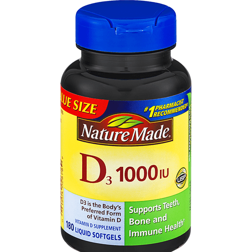 00031604026769 - Nature Made Vitamin D3, 25 mcg, Softgels, Value