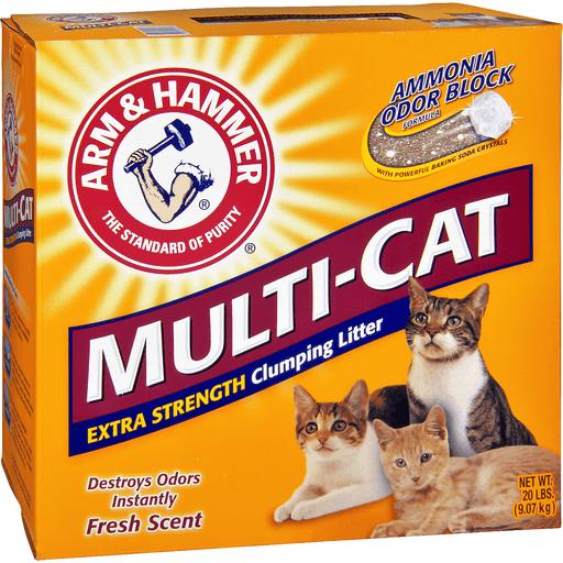 Arm & Hammer Clumping Litter, Extra Strength, Multi-Cat