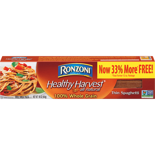Ronzoni Healthy Harvest Whole Grain Thin Spaghetti