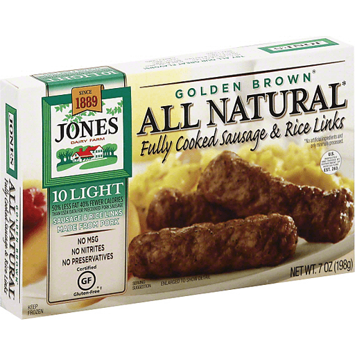 Jones Dairy Farm Sausage & Rice Links, Fully Cooked, Golden Brown