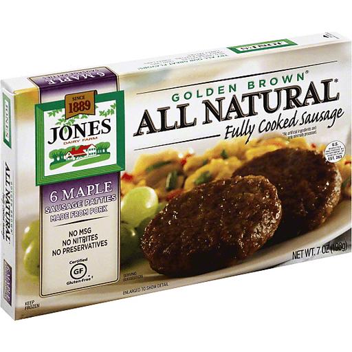 Jones Dairy Farm Golden Brown Pork Sausage, Maple, Patties